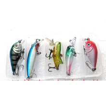 Small Size Fishing Lure Kit Hard Artificial Lures Minnow Crank Bait Locust Fresh Water Bass Baits