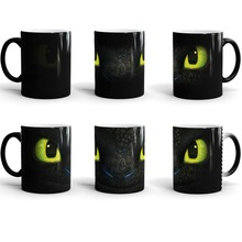 how to train your dragon Cup night fury toothless mugs cold hot heat sensitive mug heat transforming heat changing color Ceramic