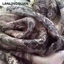 scarf luxury brand Desigual Women hijab femmes blanket lace echarpe silk flower Long fashion Autumn and winter pashmina scarfs(China)