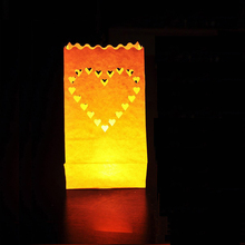 "50pc/lot 10"" Led lampshade White Chinese Paper Lantern Candle Lampion For Birthday Party Event Wedding Decoration Heart Lantern(China)"