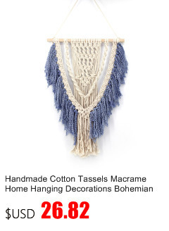 Small Handmade Macrame Wall Art Cotton Thread Wall Hanging Tapestry Bohemian Rope Pots Holder Hemp Rope Net Wall Decorations 9