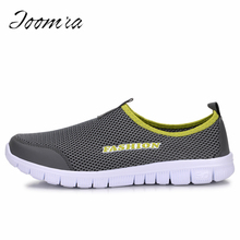 Fashion summer shoes men casual air mesh shoes large sizes 38-46 lightweight breathable slip-on flats chaussure homme(China)