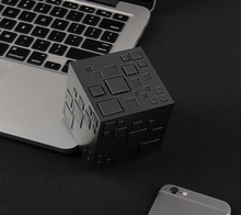 Fasion Mini Magic Cube Square Wireless Bluetooth Speaker Portable Outdoor LED Stereo Car(China)