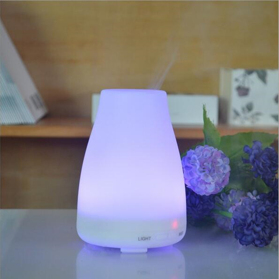 100ml Aromatherapy diffuser Ultrasonic Humidifier LED Light 7 Color Change Dry Protect Ultrasonic Essential Oil Aroma Diffuser <br><br>Aliexpress