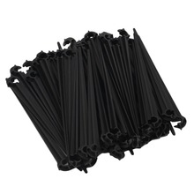 50Pcs 11cm Durable Plastic Hook Fixed Stems Support Holder for 4/7 Drip Irrigation Water Hose for 4/7mm Drip Irrigation Tubing P(China)