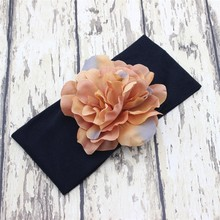 NEW  Flower Headwraps Big flower cotton Turban Headbands Newborn photography props  Hair accessories 10pcs/lot
