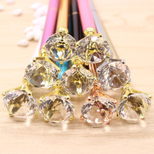 5PCS/LOT 2017 new products of metal crystal gem pen concert High-grade large diamond pen Escolar Escolares Kawaii Novelty(China)