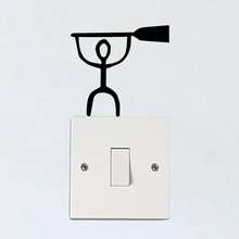 Paddleboard Cartoon Fashion Vinyl Light Switch Sticker Wall Decal 6SS0271