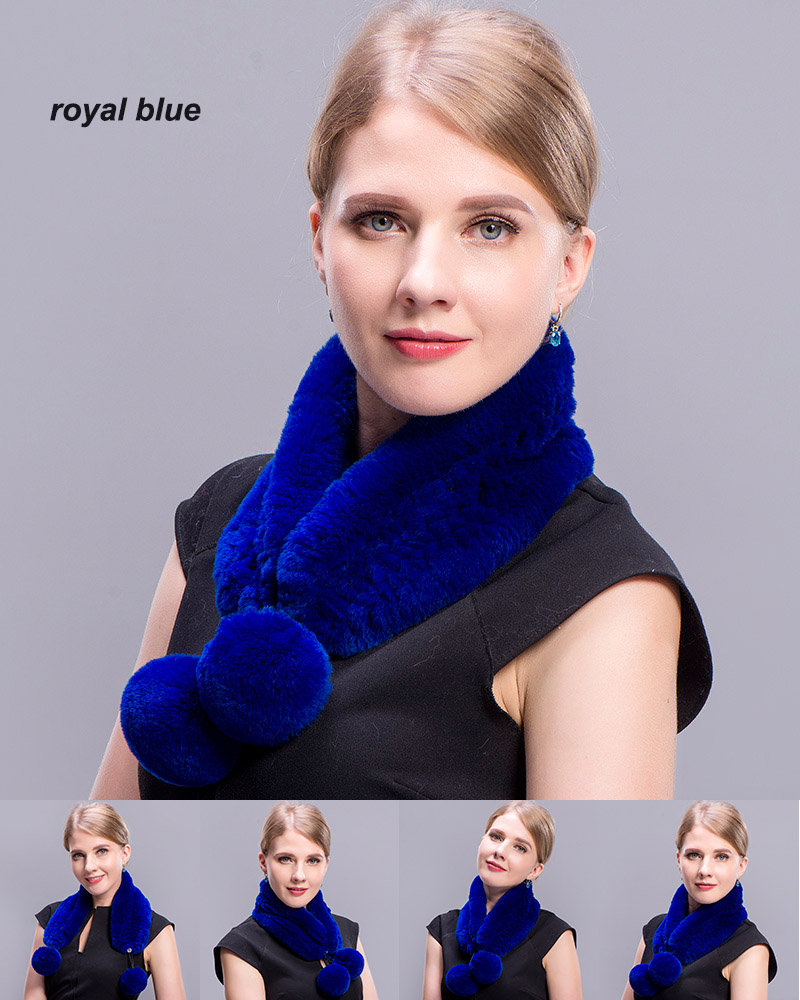 rex rabbit short scarf royal blue 5