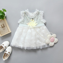 0-3Years New Model Summer Baby Flower Girl Dress For Birthday Fashion 2017 baby girl party dress children frocks designs