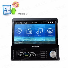 "7"" Android 5.1 OS Detachable Panel Design Quad Core 1 Din Car Multimedia Player Single Din Car Navigation GPS One Din Car Radio"