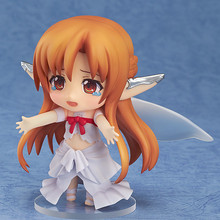 NEW hot 10cm Q version Yuki Asuna Sword Art Online Cage movable action figure toys collection christmas toy doll with box