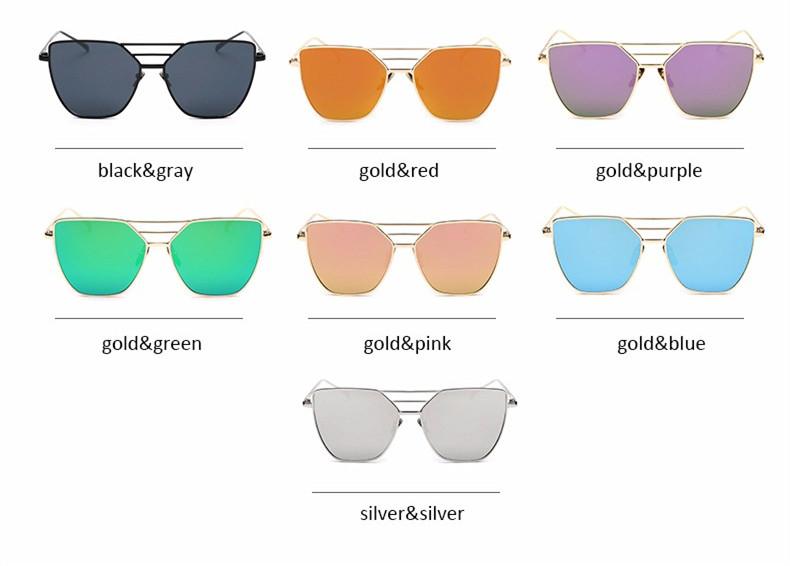High Quality Cat Eye Sunglasses Women Brand Designer Driving Summer Sun Glasses Women Female Lady Sunglass Mirror Vintage Retro (4)