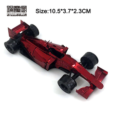 3D Metal Puzzles for Red Ferrari F1 Kids Adult Assembly Model Kits Toys Jigsaw DIY New Year Gift Educational Desktop Display Toy(China)