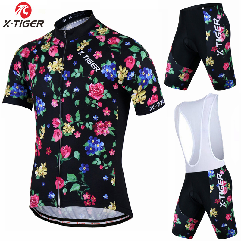 X-Tiger 2017 Florenca Summer Short Sleeve Cycling Jersey set Mountain Bicycle Wear Racing Bike Clothing Ropa Conjunto Ciclismo<br>