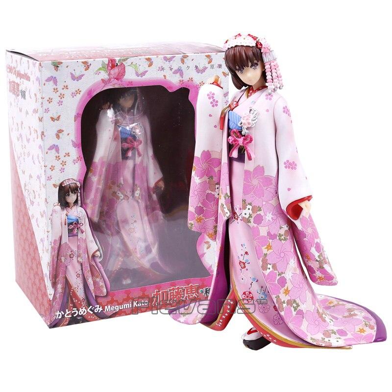 Saenai Heroine No Sodate-kata Megumi Kato kimono ver. PVC Figure Collectible Model Toy 24cm<br>