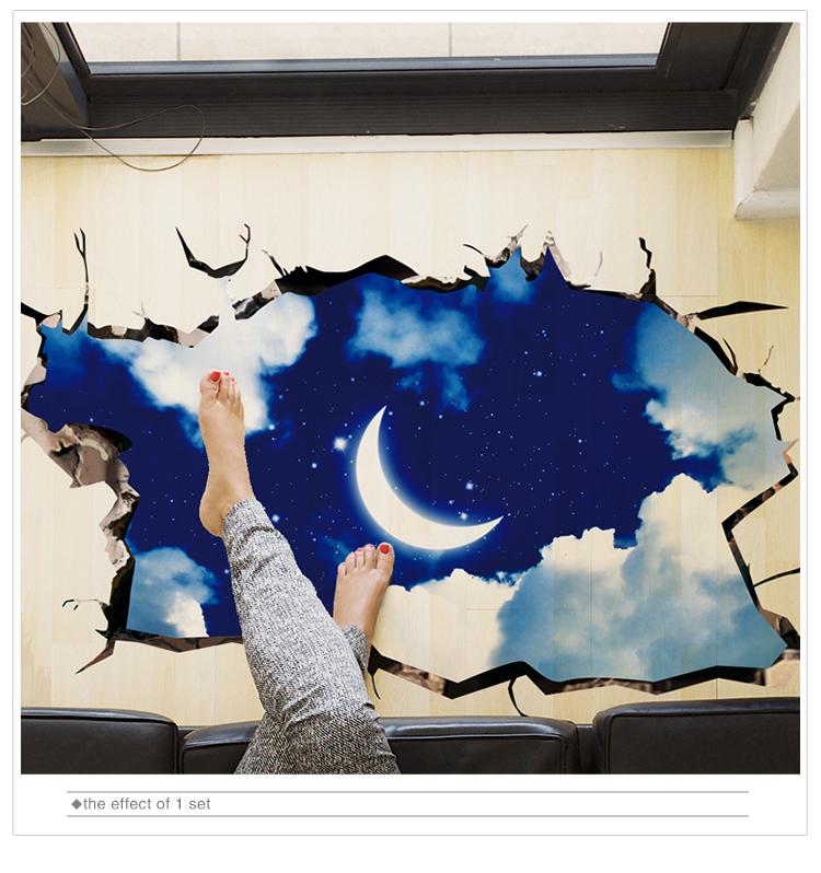 HTB1gV.QnInI8KJjSspeq6AwIpXaA - [SHIJUEHEZI] 3D Visual Effect Stickers PVC Material Cosmic Galaxy Wall Decor for Kids Room Kindergarten Ceiling Decoration
