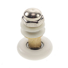 1pcs 19mm-27mm Dia Partiality Shower Bath Door Rollers Runners Wheels Pulleys Long Lasting Stain Steel Nut