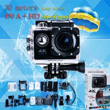 Hot Sale Go Pro Hero 4 Style Action Camera 4K F60 WiFi Sport extreme Diving Helmet Cam 1080p HD Video 30M Waterproof Action Cam