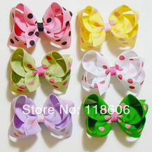 100pcs Small Hair Bow Childrens Kids Boutique Fashion Hair Accessory Free Shipping(China)