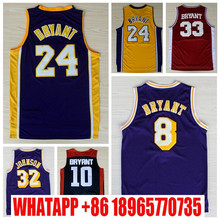 Men #24 KBJersey,100% Stitched Wholesale Cheap High Quality #32 Magic Johnson Jersey,Lower Merion Basketball Jersey