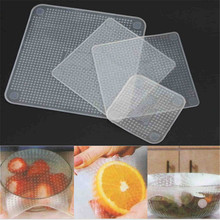 Food Fresh Keeping Saran Wrap Reusable Silicone Food Wraps Seal Vacuum Cover Lid Stretch Kitchen Tools D(China)