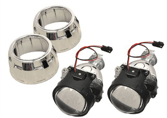 WISE TRAVEL 2.5%22 Mini Xenon HID Projector Lens with Shroud for Car Headlight<br>