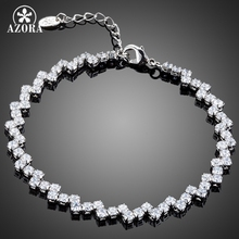 AZORA Luxurious Party Jewelry With 72pcs Top Grade Cubic Zirconia Tennis Bracelet TS0142