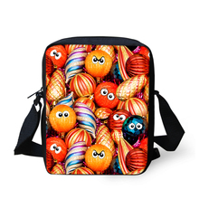 FORUDESIGNS 3D Christmas Funny Emoji Face Crossbody Bag Kids Xmas Best Gift Messenger Bags Fashion Women Shoulder Pack Wholesale(China)