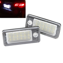 2PCS high quality Led number plate light,A3 Cabriolet,A4,S4,A6,C6,RS4,Avant quattro,RS6 Plus,A8,Q7, car led license plate lamp(China)