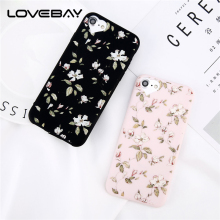 Lovebay Beautiful Flower For iPhone 5 5s SE 6s 7 8 Plus Love Heart Camera Protect Design Soft TPU Phone Case For iPhone 6 Cover(China)