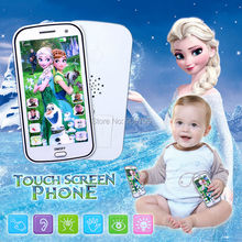 English Cartoon Multifunctional Baby Toy Phone Kids Mobile with Song Let It Go Electronic musical Toy with story,record & light