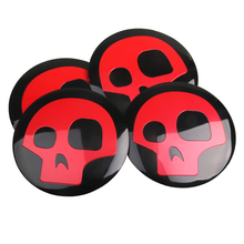 4pcs Punisher Skull Logo Car Tyre Steering Wheel Center Hub Cap Emblem Decal Badge Symbol Sticker For Honda VW Audi BMW Nissan(China)