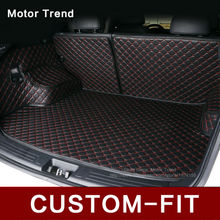 Custom fit car trunk mat for Hyundai ix25 ix35 Elantra SantaFe Sonata Tucson verna car styling tray carpet cargo liner(China)