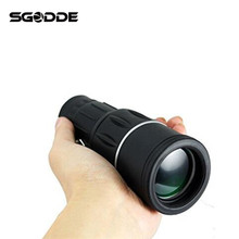 Best Deals 10*52 Outdoors HD Monocular Fully Multi-coated Telescope With Adapter + Soft Undercarriage for Universal Cell Phone