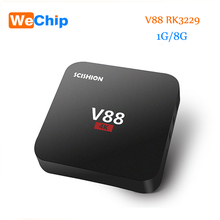 Newest V88 Android 5.1 4K TV Box RK3229 Mali-400 1G/8G eMMC 4 USB 4K WiFi Full Loaded Quad Core 1.5GHZ KODI Media Player Mini PC(China)
