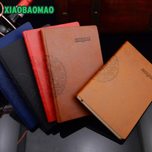 Vintage journal leather traveler's notebook A5 handmade note book Horizontal notebook soft cover office school stationery
