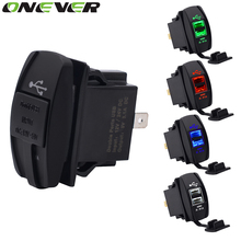 Onever Dual USB Car Charger Power Adapter 5V 3.1A  Dual USB Socket Charger For iPhone 5 6 6S Ipad Samsung Tablet Car-Charger