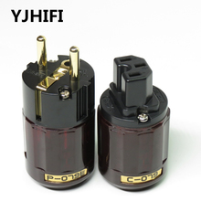 Hi End P-079E+C079 24k Gold-Plated EU Power Plug ac power cord plugs