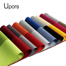 Upors 4pcs/set High Quality Table Mat PVC Placemats for Dining Table Pad Vintage Plastic Coasters Non-Slip Woven Runner Placemat(China)