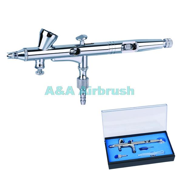 Gravity Feed AIRBRUSH GUN Set Kit 208 Henna Tattoo Hobby cake decoreting nail and AUTOBODY spray<br><br>Aliexpress
