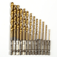 13Pcs/Set Power Tools Drill Bits Steel Hex Shank Quick Change Cobalt Drill Bit Set Multi Bits 1.5-6.5mm Countersink