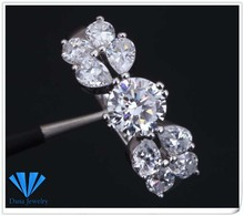 High quality suppliers Brand designer Swiss CZ Fashion jewelry silver plated size 5.5 R333(China)