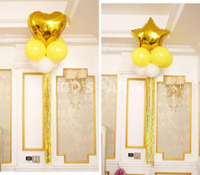 10pcs/lot 100 cm Drizzle Tasseled Laser Curtain Ribbons Foil Balloon Valentine's day Wedding Party Rain Ballon Decor Accessories(China)