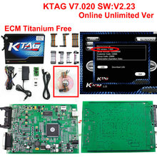 With GPT Cable DHL Free Ktag 7.020 ECU Chip Tuning K TAG V7.020 V2.23 Master Version For Car Truck KTAG ECU Programming Tool