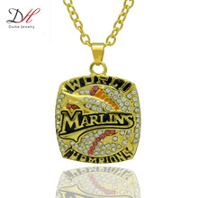 Daihe NC4641 Newly Punk Style Sport Jewelry 2003 Florida Marlin Championship Pendants Necklace For Women & Men Wedding Necklaces(China)