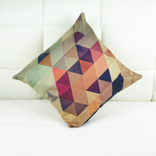 Manufacturers of complex geometric patterns custom color linen pillow cushions simple style textile wholesale /no Cushions core(China)