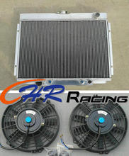 aluminum radiator & fan*2 for 1967 1968 1969 1970 Ford Mustang Ranchero Torino new(China)