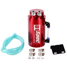 Universal Aluminum Alloy Reservoir D1 SPEC Racing Oil Fuel Catch Tank Can Fuel Silver Round Original Package