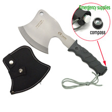 CK Cavra Multi Camping Outdoor Axe Hunting Axe Survival Tomahawk Field Hand Tools Axe 5Cr15Mov Blade Plastic Handle With Compass